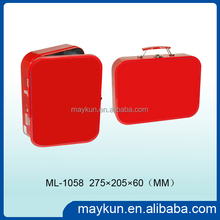 Lunch tin box with lock and plastic handle for kids