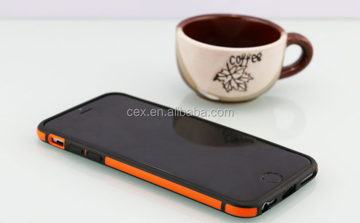 For Apple iPhone 6 4.7 Wholesales Fashion Dual Protection PC and Silicone Bumper Case