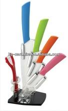 colocación de color cuchillo de cerámica conjunto