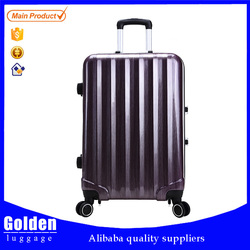2015 female and ladies hot selling pattery carry-on ABS trolley luggage with TSA lock