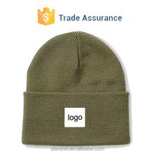 plain beanie knit ski cap skull hat warm solid color winter blank beanie