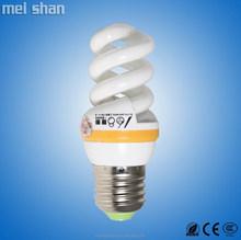 9w spiral shape energy saving CFL E14/E27/B22 bulb