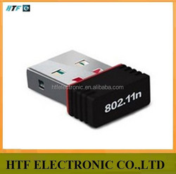 high speed OEM 150M Infrastructure and Ad-Hoc rj45 wireless network NANO adapter(Supports 64/128-bit WEP)