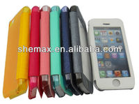 Cheap Price Transparent Touch Window Flip Case For iPhone 5C