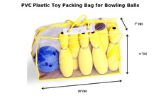 PVC Plastic Toy Packing Bag for Bowling Balls OFFER