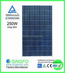 best quality popular 250w polysilicon solar panel