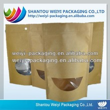 Hot sale craft paper bag for food with window manufacturer
