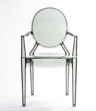 Replica Polycarbonate PC material Louis ghost chair with arm