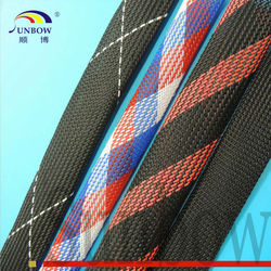 With ISO 9001-2008 Standard Flame Retardant Thermal Insulation PET Expandable Braided Sleeving
