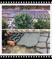 Recycled plastic Pathway Patio Pavers/ stepping stone paving DIY Mould for garden