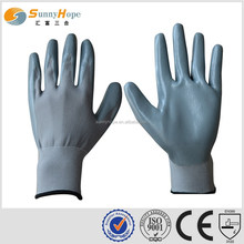 13gauge nylon grey gloves with light