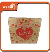 wholesale fancy party gift natural kraft paper bag