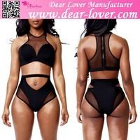 Open Young Girl Black Mesh High waist Sex xxx Models Bikini