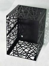 Abstract totem design square metal cd dvd rack
