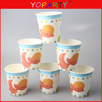 9 OZ Chevron Striped fish Paper Cups, Party Supplies Drinking Paper Cups