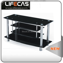 luxury design black painting multilayer glass modern tv stand