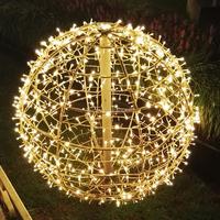 Outdoor Christmas decorative lantern RGB color changing waterproof IP67 magic glow ball string led garden light,M4008