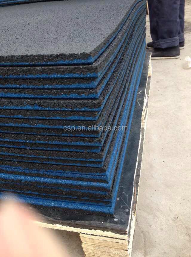 Lastique pais stable caoutchouc tapis de sol pour aire de jeux carreaux de pavage en plein Tapis de caoutchouc recycle