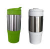SS outer plastic inner 450ml 16oz stainless steel thermo mug insulated plastic coffee mugs coffee thermos travel mug