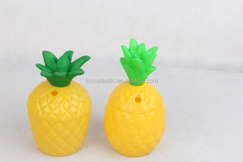 350 ml en plastique ananas tasse avec paille jaune couleur tasses soucoupes id de produit - Couleur jaune paille ...