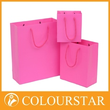 2015 hot selling classical designed large texture two-sided printing paper bags