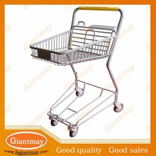 wire stainless steel powder coating shopping cart/trolley