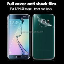 Front and back premium anti-glare screen protective film for Samsung galaxy S6 edge