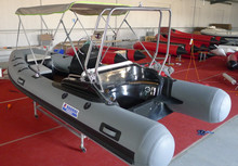 4.7m inflatable sport motor RIB boat RIB470C with PVC or Hypalon tubes for sale