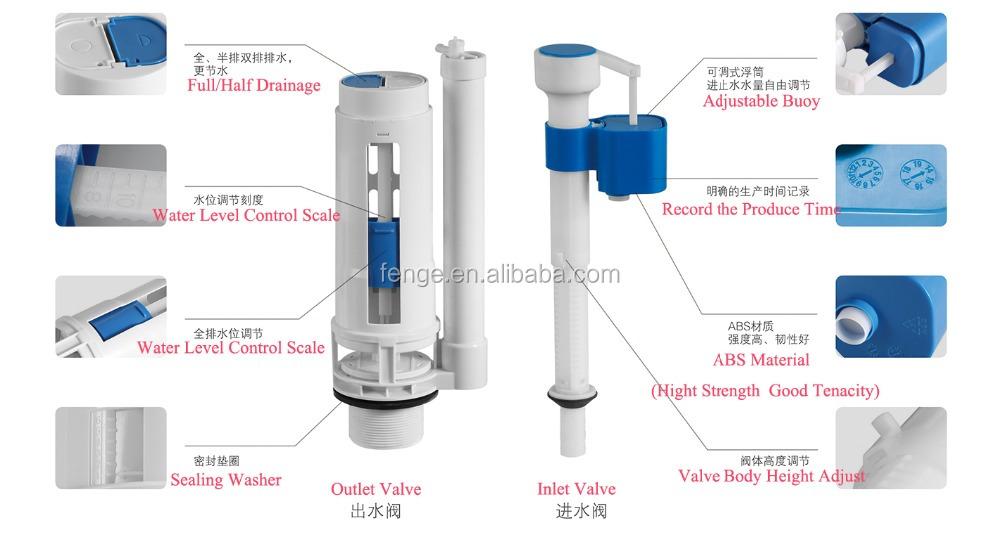 욕실 액세서리 ABS 수조 피팅, 고무, 플라스틱 수세식 밸브-필링 ...