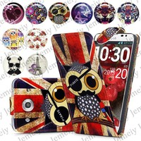 Person Custom Design Printed Magnetic Top Flip PU Leather Case Card Holder Wallet Phone Cover Skin For LG Optimus G Pro