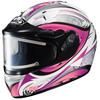 HJC IS-16SN Lash MC-8 Pink Ladies Full Face Snowmobile Helmet - Electric