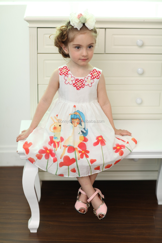 nudistki baby dress designs printed cotton kid dress, children girls nudistki photo