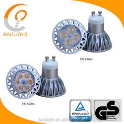 High quality TUV Rheinland CE(AN 50305734 & AE 50309094) GS (S 50305733) 5w 7w dimmable ce rohs led-lichterkette gu10 light led