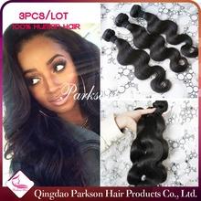7A free tangle body wave 100% peruvian virgin hair, Wholesale Natural Colour 100% Unprocessed Virgin Peruvian Hair