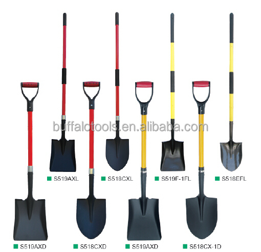 Fiberglass handle shovel spade fork construction tools for Gardening tools jakarta