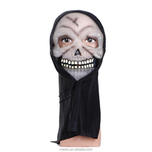 Hot Sale White Fashion Horrible Ghost Face Halloween Scary Plastic Masks