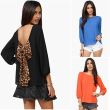 Cut Out Back Evening Top T-Shirts Blouse with Low Back ZT001392 best instyles
