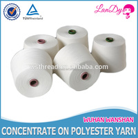 Factory cheap Spun Polyester Dyeable Sewing Thread for clothes textile leather Hubei origin paper plastic tube