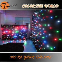China supplier Color DMX Stage Effect remoteled control Led Star Curtain