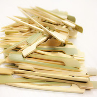 Hot sell double prong bamboo pick 20 CM
