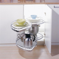 Metal Kitchen Magic Corner Swing Tray /Revolving Basket With Soft Closing( 900.900.900/L )