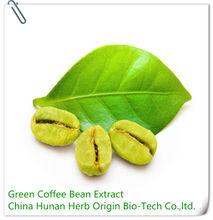 100% natural perda de peso de café verde feijão extrato de pó, slimming café verde em pó e cápsulas