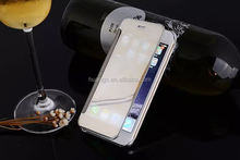 Best selling products Mirror Flip Cover Clear View Wallet Book mobile phone case for iphone 6 plus wholesale alibaba
