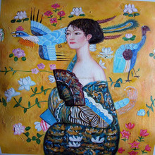 Famous Expressionists Gustav Kli's Beautiful Lady Oil Painting on Canvas