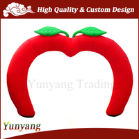 Hot Sale Red Apple Shaped PVC Inflatable Entrance Arch, Used Inflatable Arch
