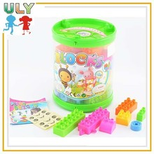 Portable cask building toys for boys clear plastic block plastic puzzle toy
