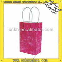 2013 Hiqh quality small colored paper bags with handles