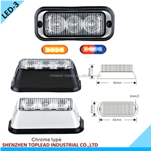3 PCS * 3W LED Surface Mount Amber LED Beacons LED Emergency Strobe Lighthead, LED warning Light for Police car Fire truck