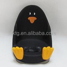 plastic penguin handset seat, mobile phone holder