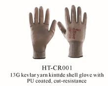 anti cut, oil free, nitrile coated safety working gloves/ cut resistant nitrile glove